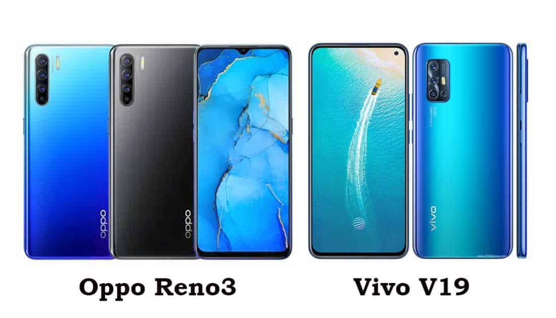 Perbandingan Oppo Reno3 vs Vivo V19