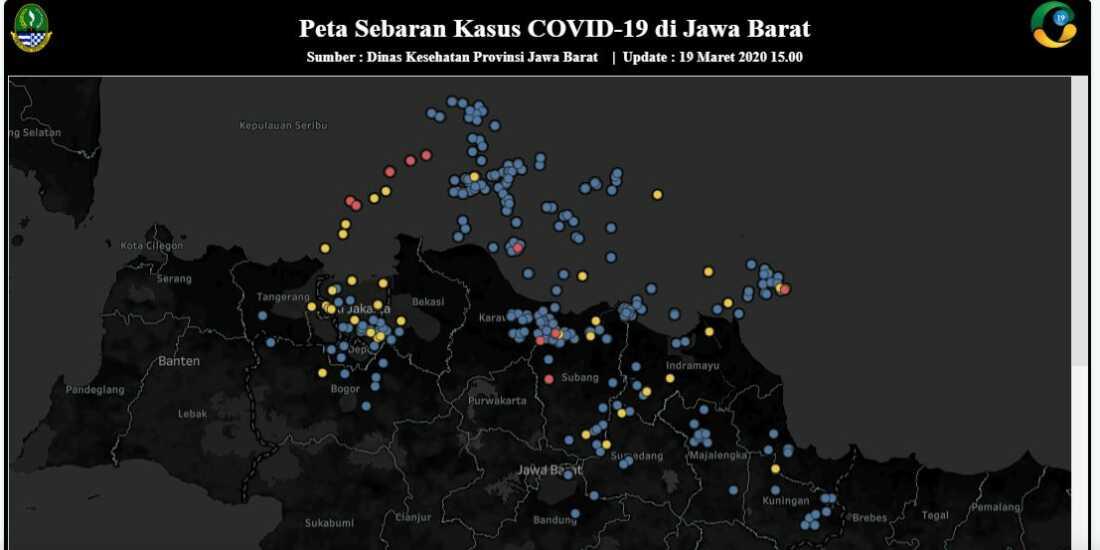 Apps PIKOBAR Peta penyebaran COVID 19 Jawa Barat