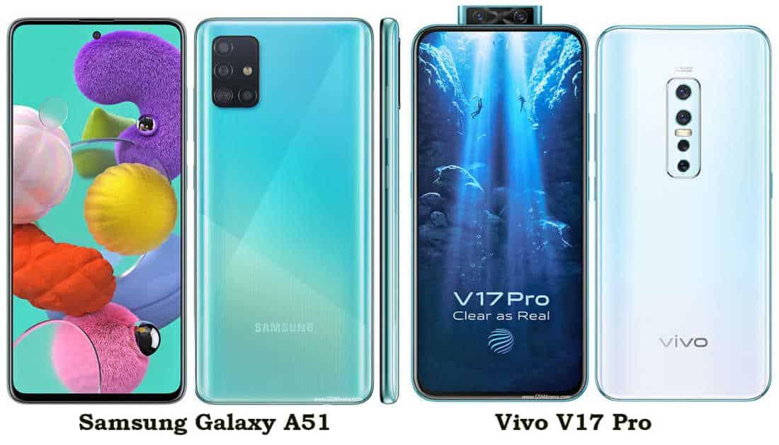 Samsung Galaxy A51 vs Vivo V17 Pro