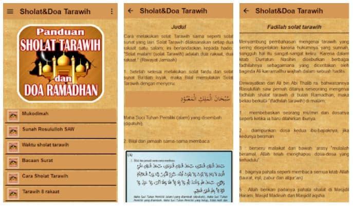 Aplikasi Solat dan Doa Tarawih