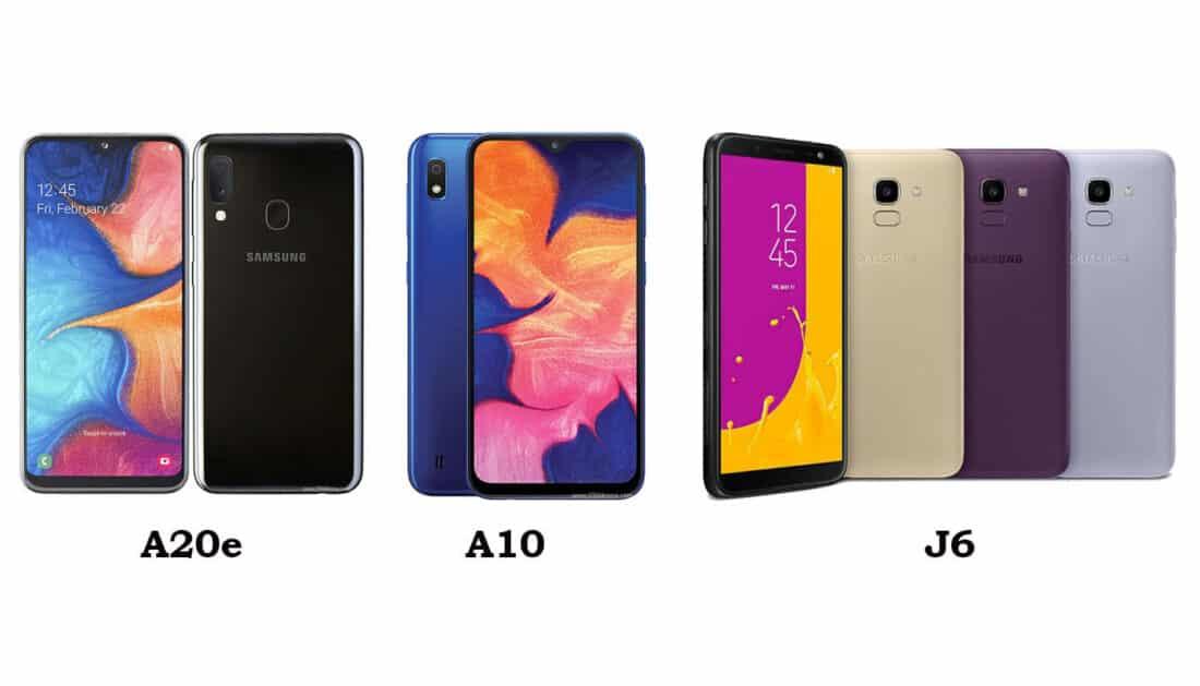 Pembaharuan Android 10 Samsung Galaxy a20e A10 dan Galaxy J6