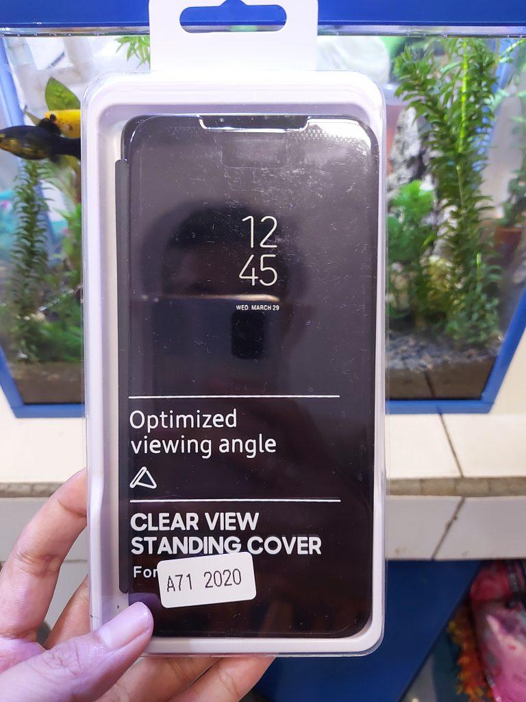 Flip Microfiber Cover untuk Galaxy A71 dan A51