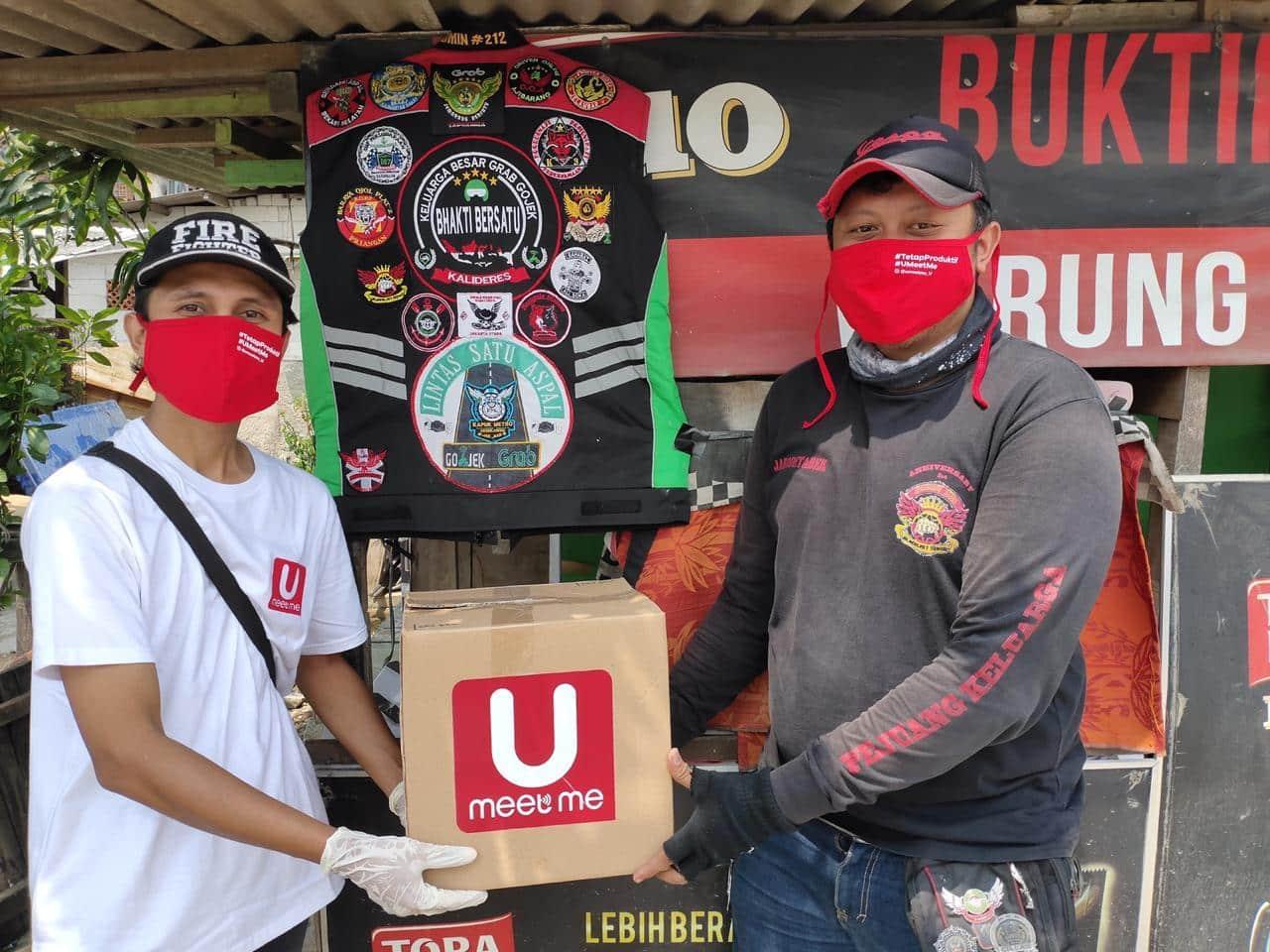 UMeetMe Bagikan 10.000 Masker Melalui Gerakan #TetapBerbagi