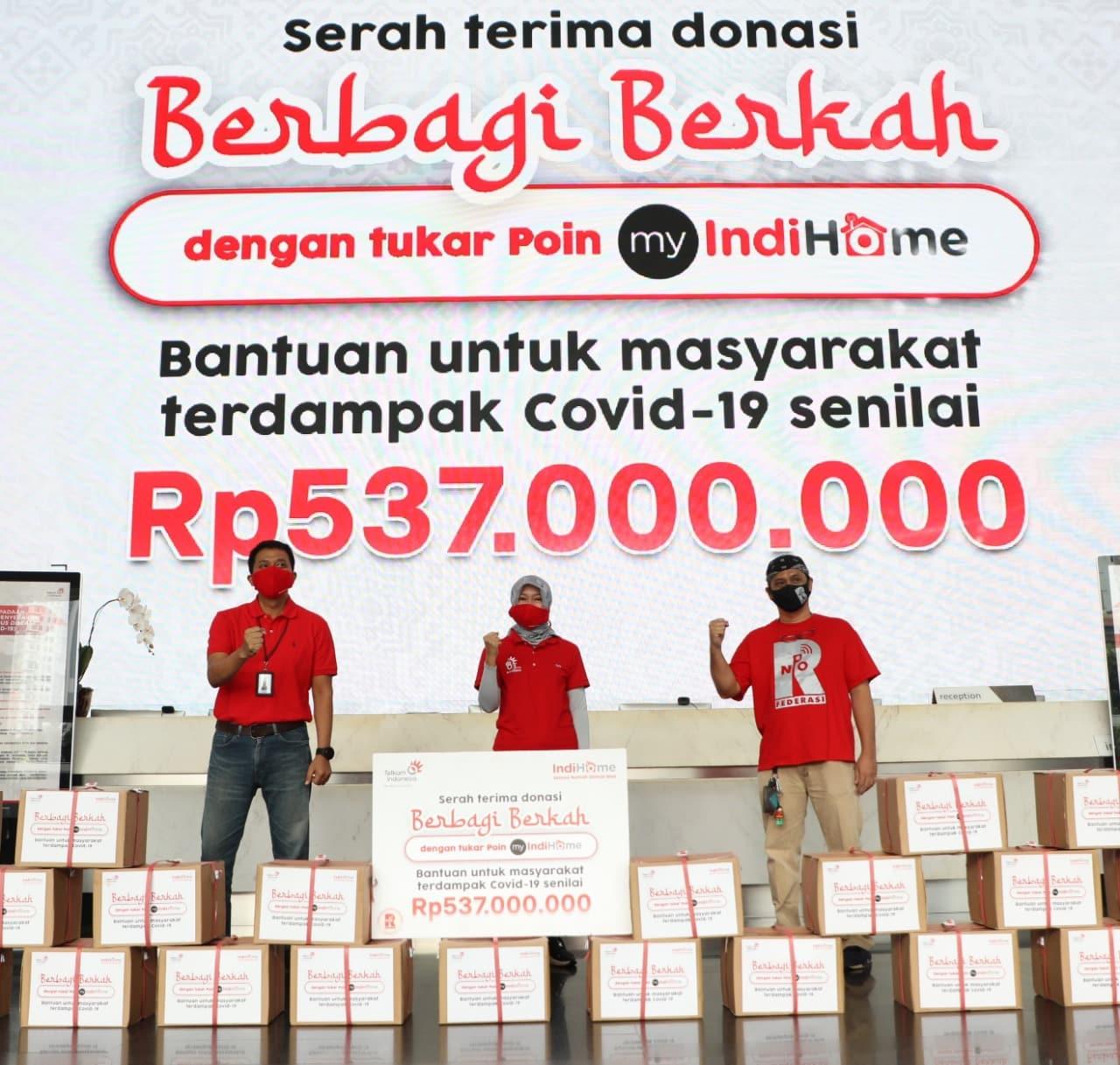 IndiHome Serahkan 3.000 Paket Sembako Senilai Rp537 Juta kepada Masyarakat Terdampak COVID-19