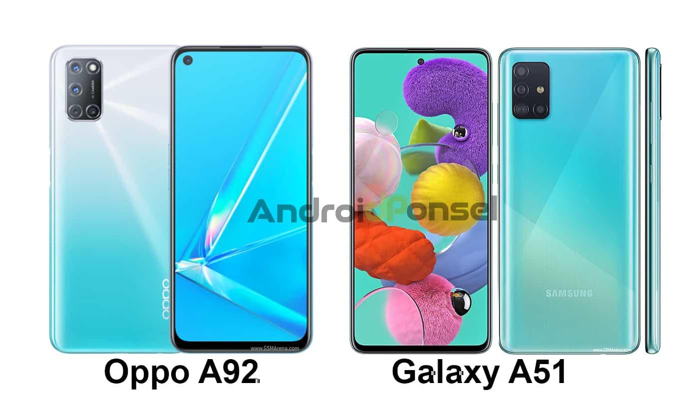 Oppo A92 vs Samsung Galaxy A51