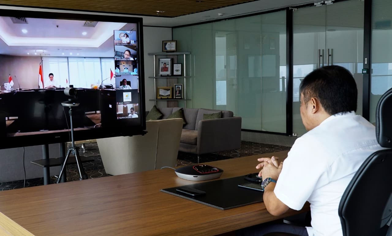 Direktur Utama Telkom Ririek Adriansyah