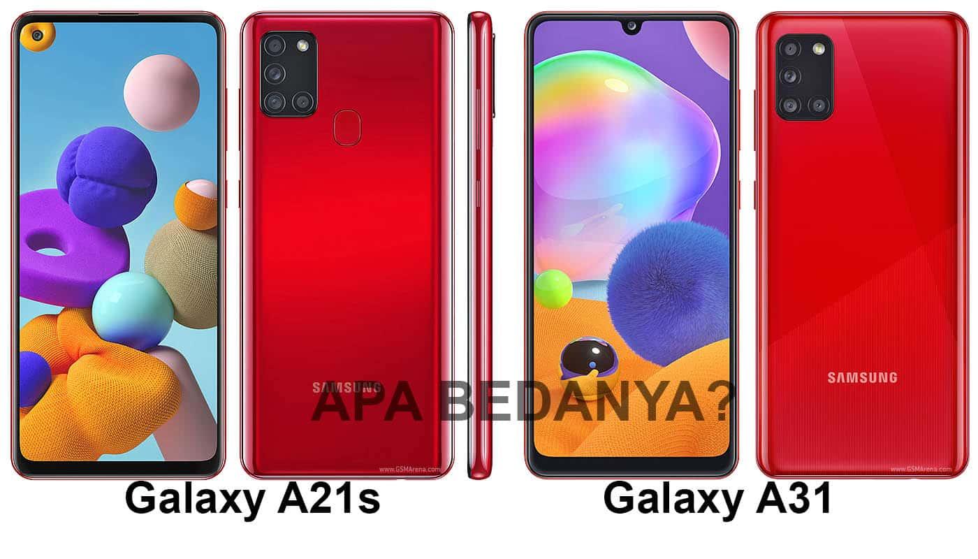 Perbandingan Samsung Galaxy A21s vs A31