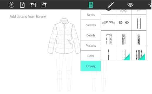 aplikasi desain kaos flat sketch