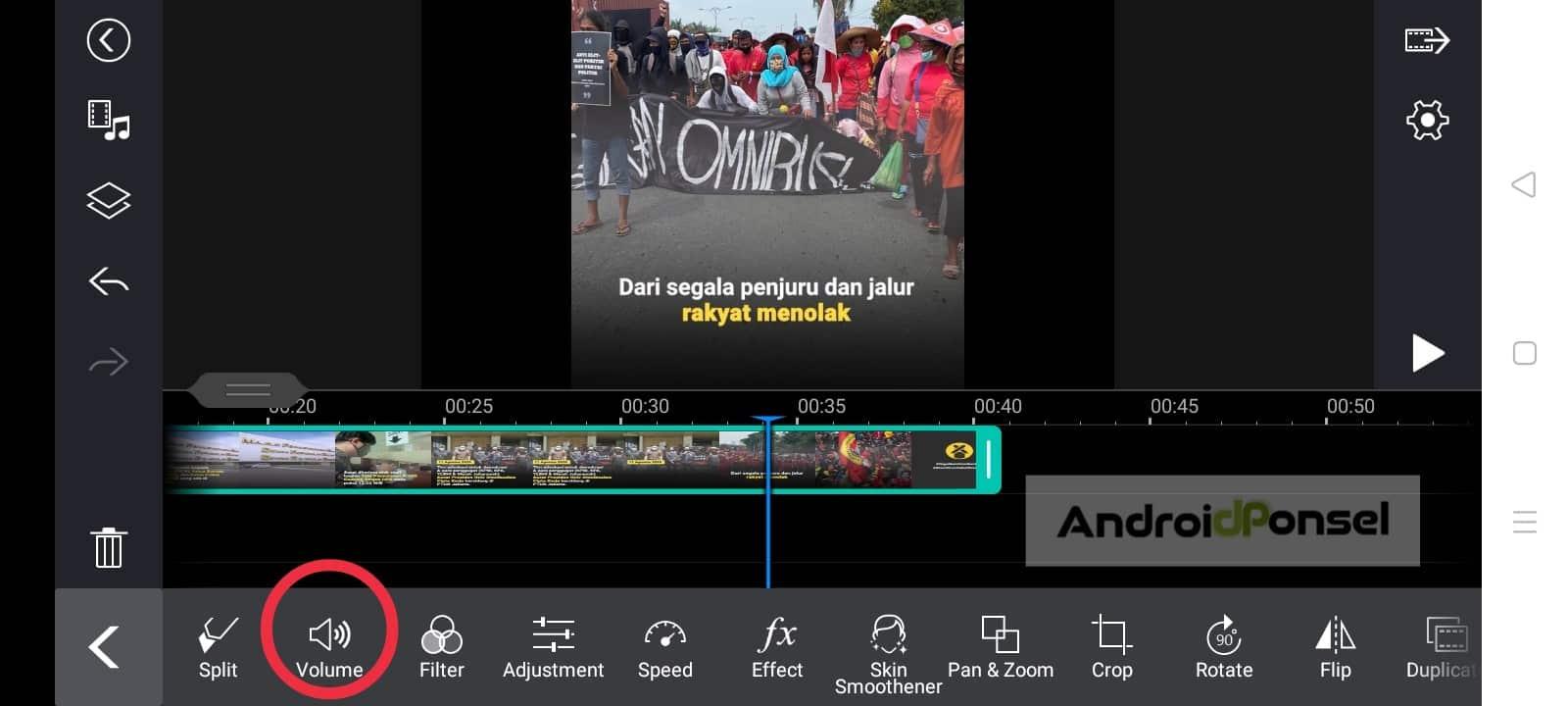 membuat suara hilang pada video