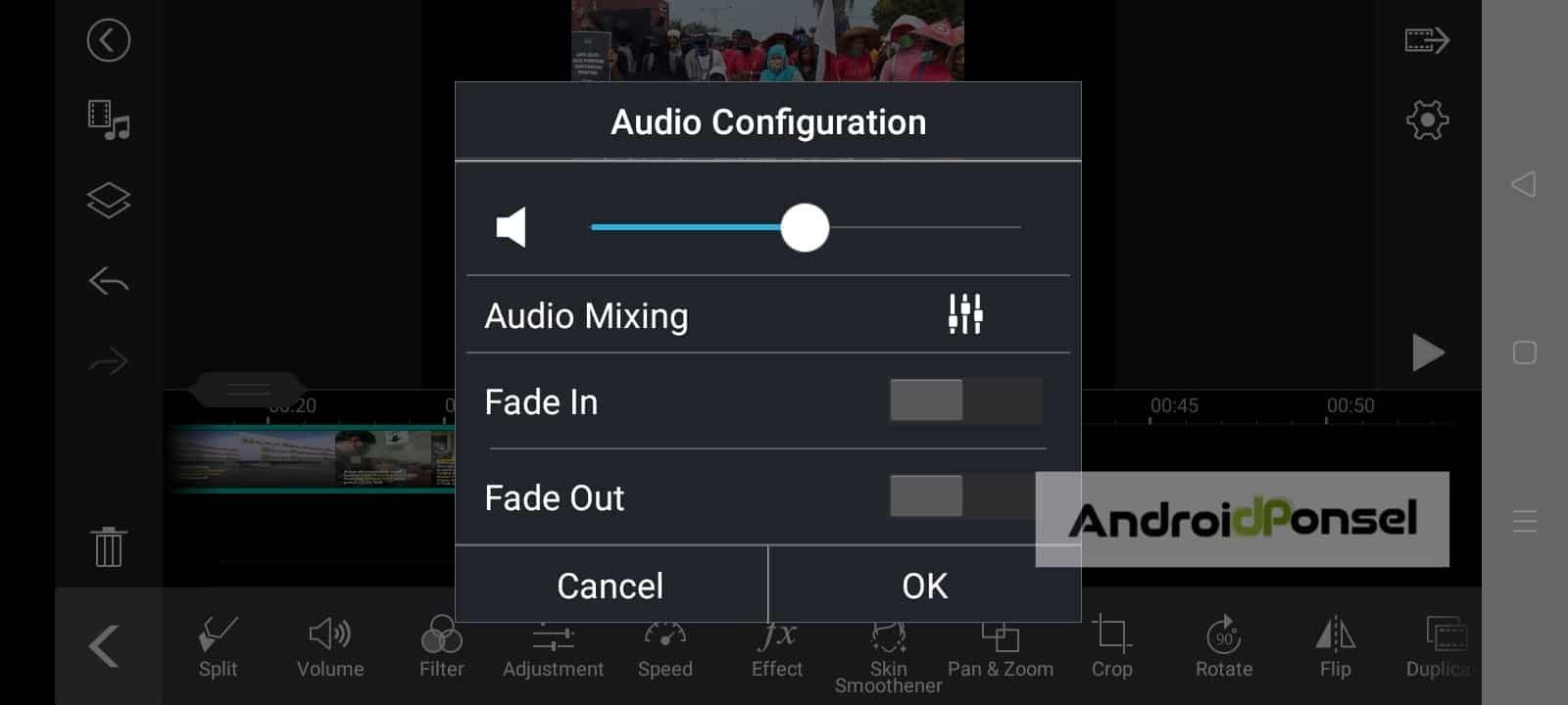 cara delete suara pada video