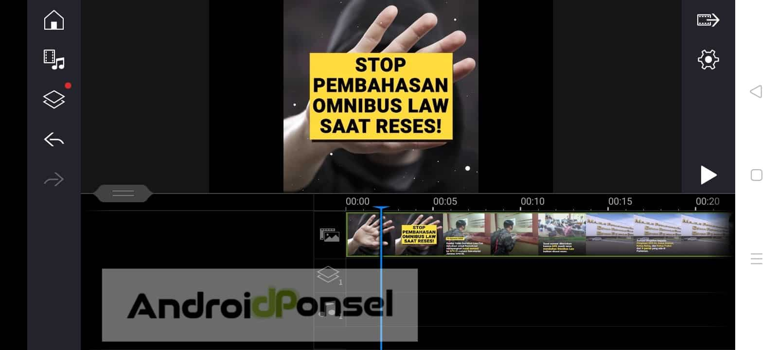 cara hilangkan suara pada video