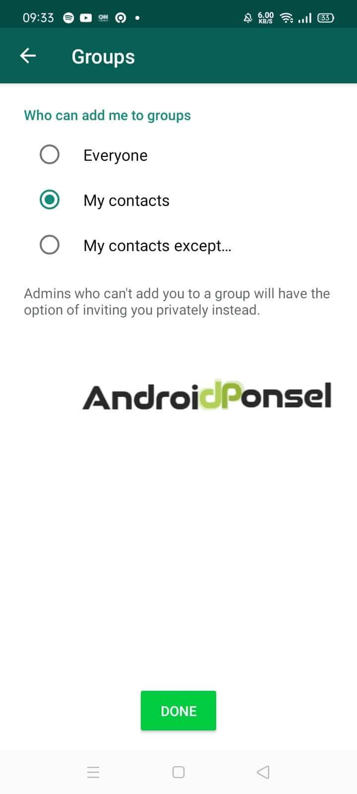 Cara Menolak Undangan Grup WhatsApp Secara Otomatis