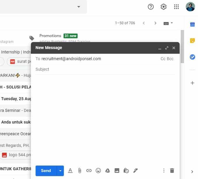 Cara Mengirim Lamaran Kerja Via Email Dengan Mudah