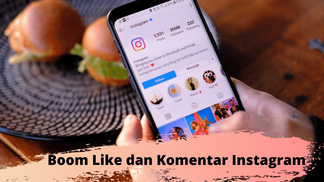 Boom Like dan Komentar Instagram