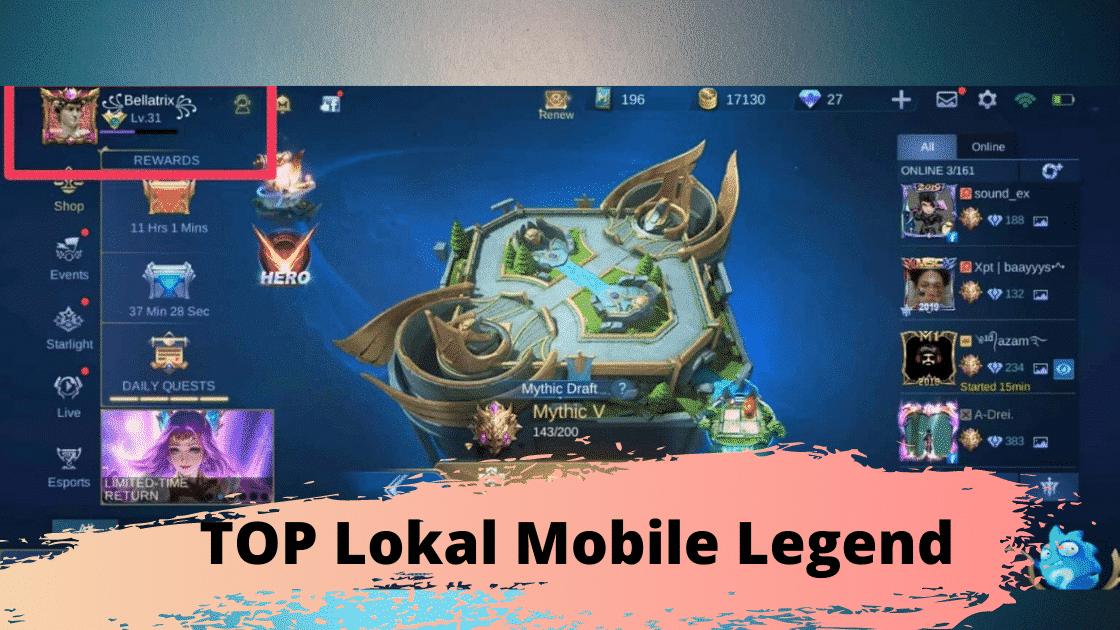 TOP lokal Mobile Legend