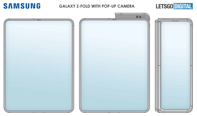 Konsep Ponsel Layar Lipat Samsung Galaxy Z Fold Hadir dengan Kamera Pop-up
