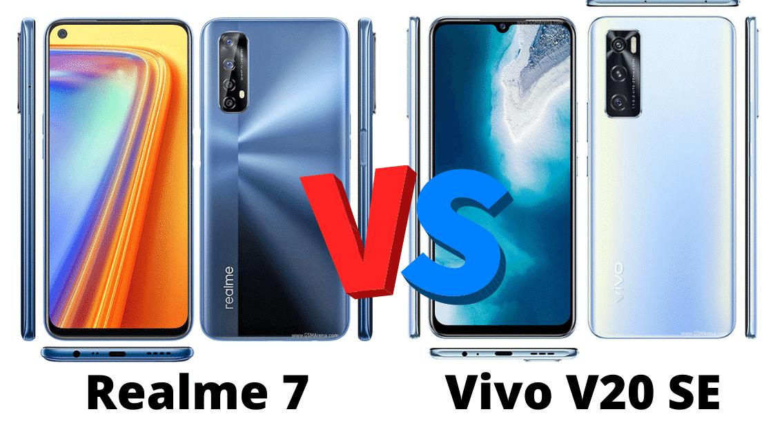 Perbandingan spesifikasi dan harga Realme 7 vs Vivo V20 SE
