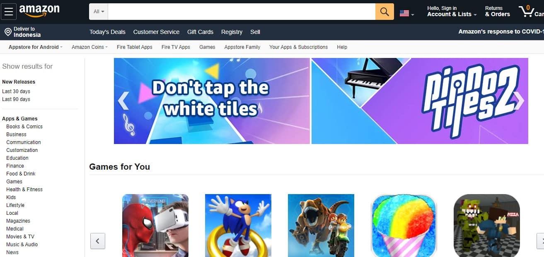 aplikasi pengganti play store Amazon Store