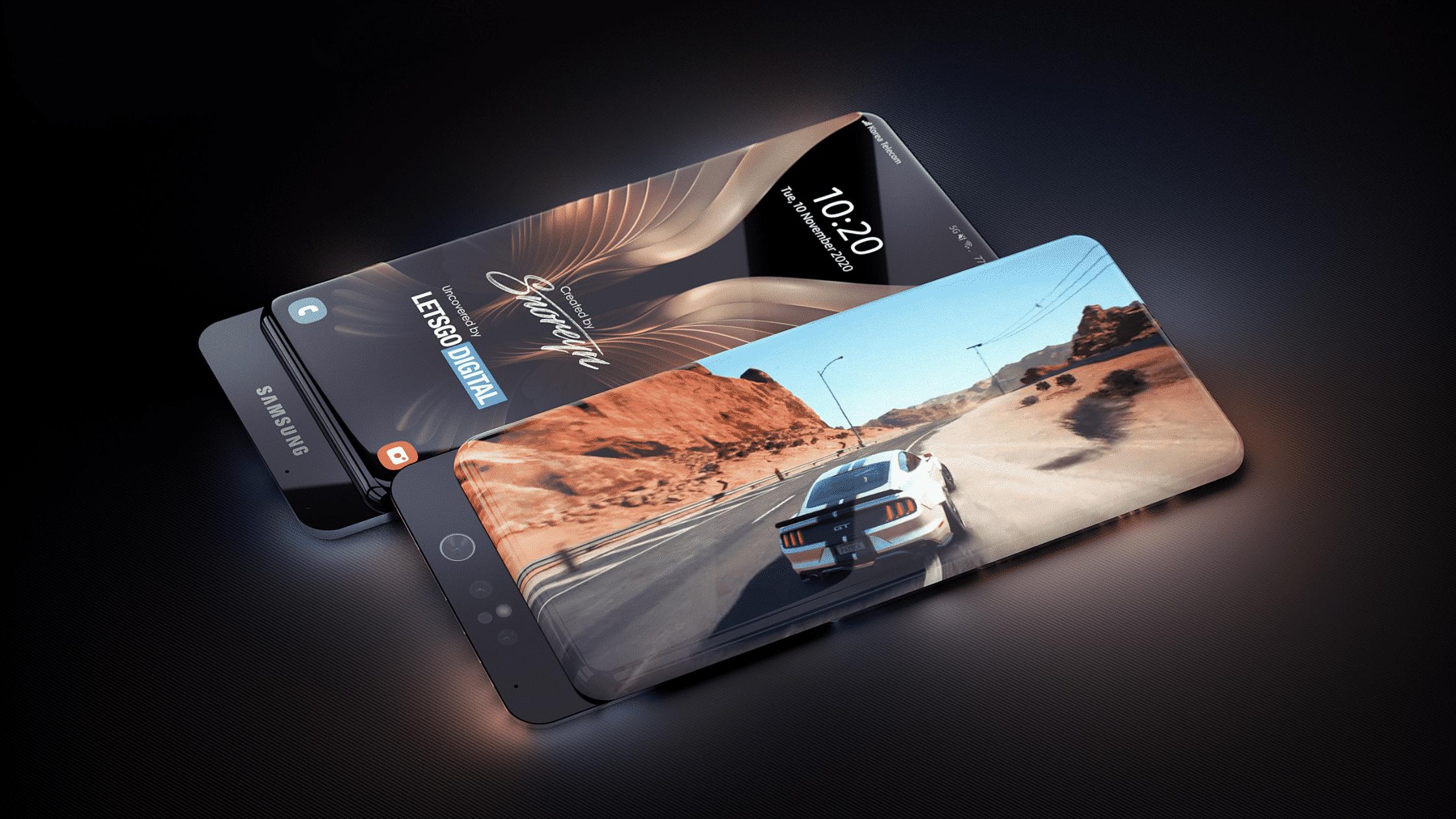 Konsep Ponsel Masa Depan Samsung dengan Layar Surround dan Kamera Geser