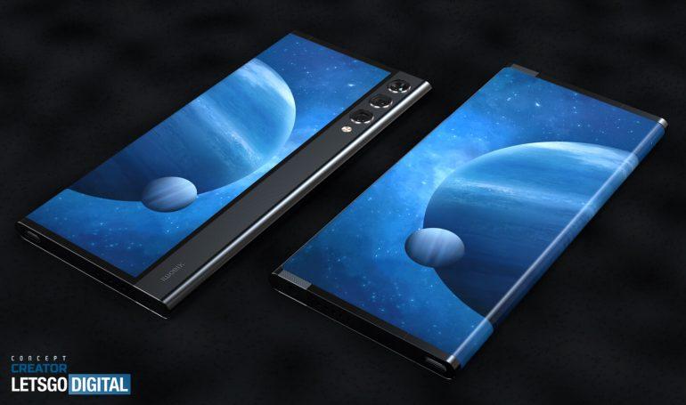 Ponsel Xiaomi layar dapat di tarik