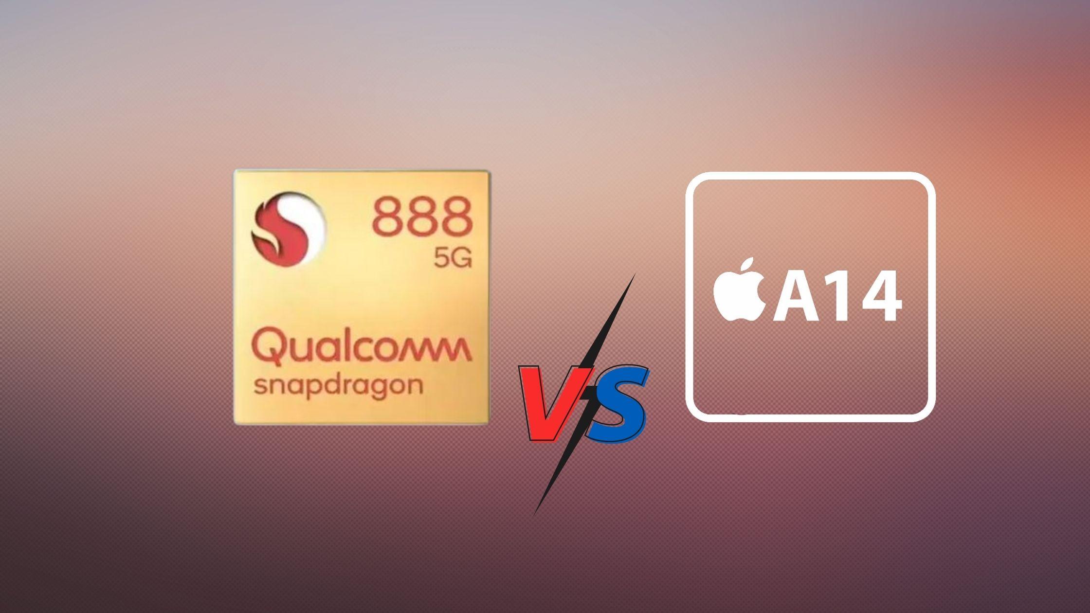 Snapdragon 888 vs Apple Bionic A14