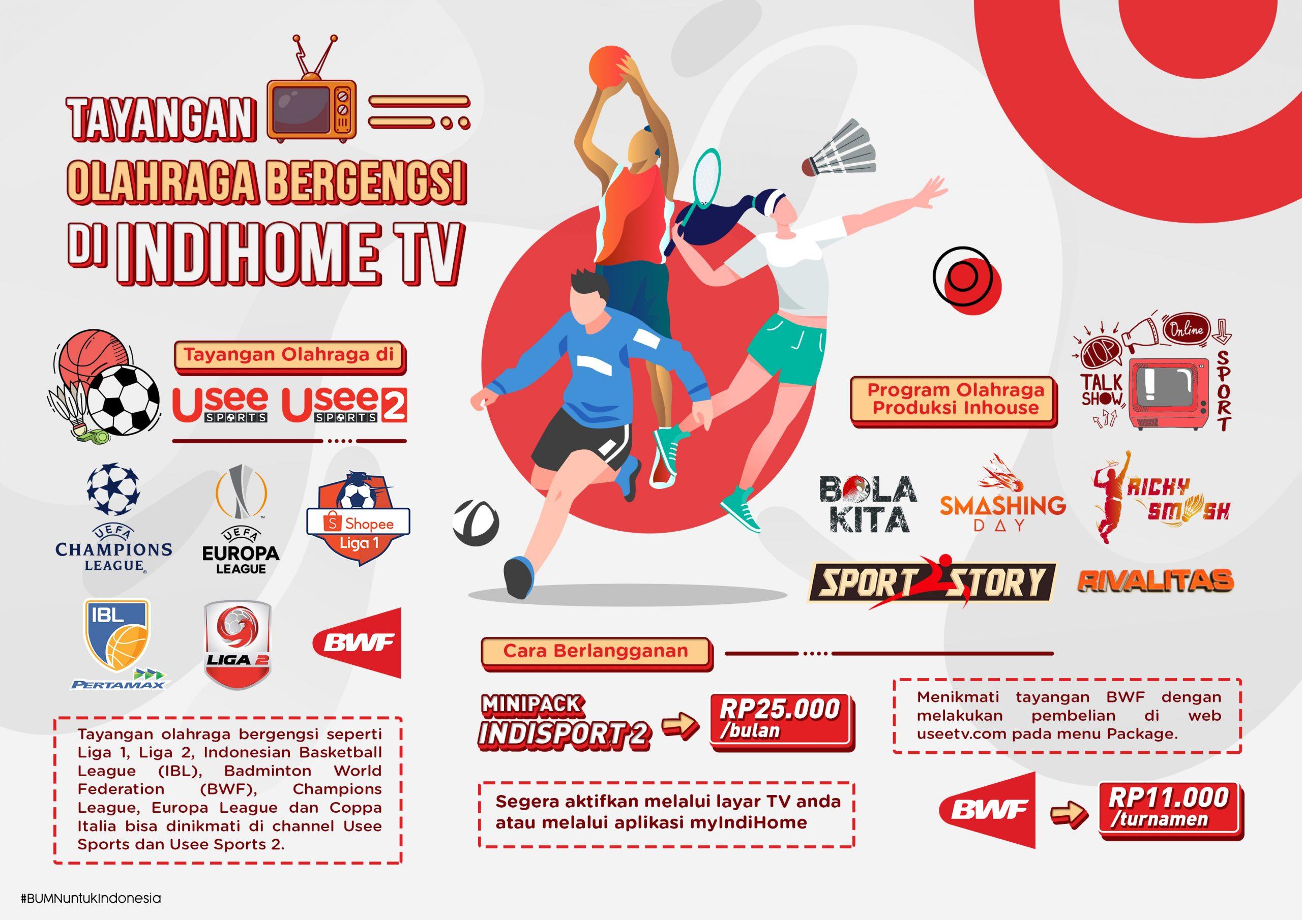 Telkom Kembali Hadirkan Tayangan Olahraga Bergengsi melalui Channel Usee Sports di IndiHome TV