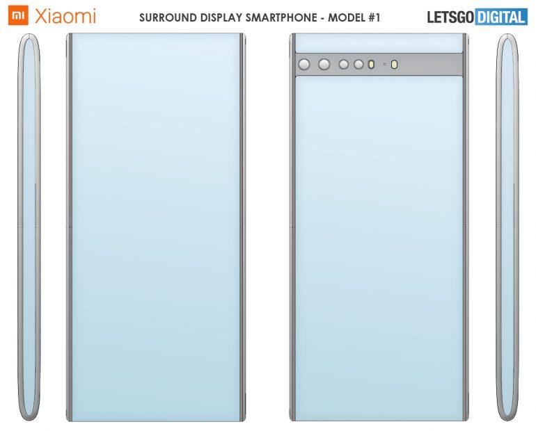 Konsep Smartphone Xiaomi dengan Layar Surround 2021