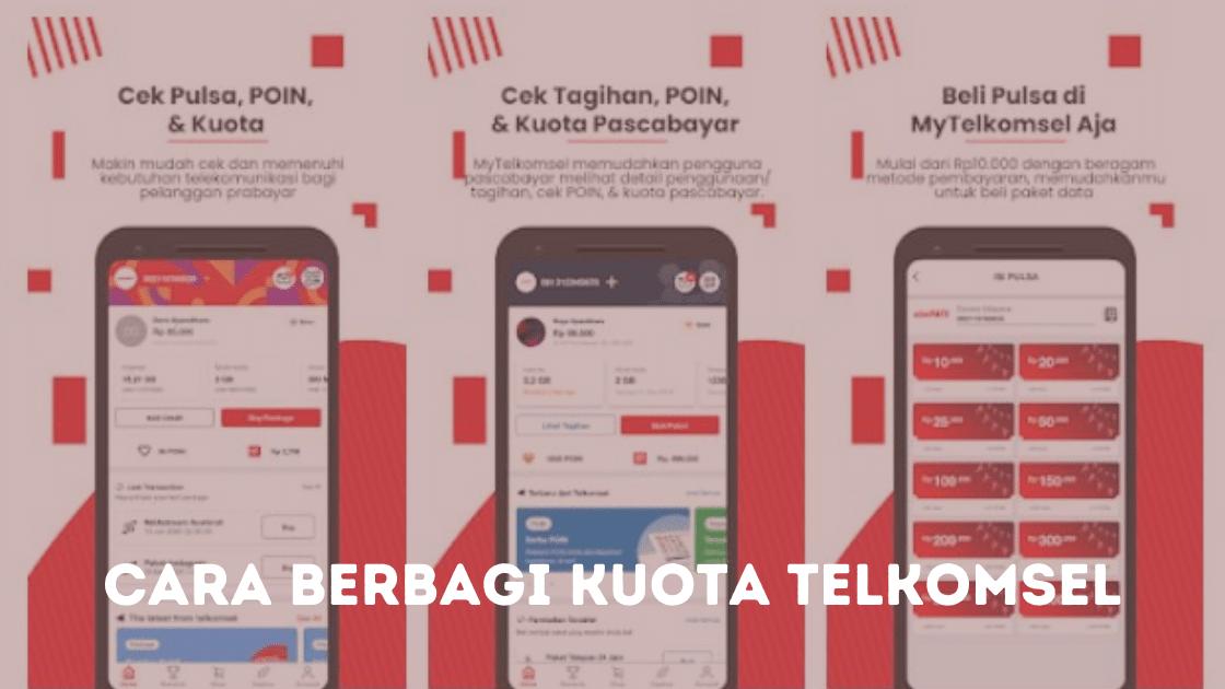 Cara berbagi kuota telkomsel (1)