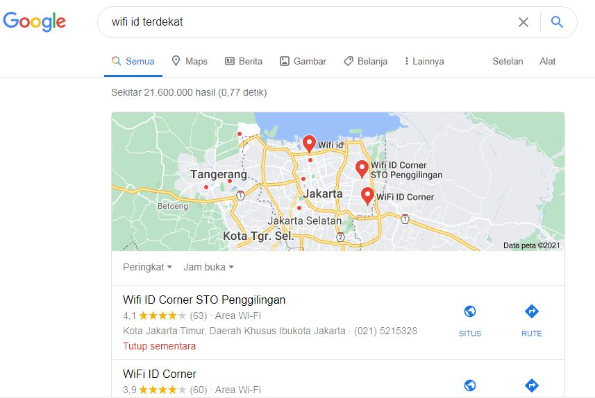 wifi terdekat