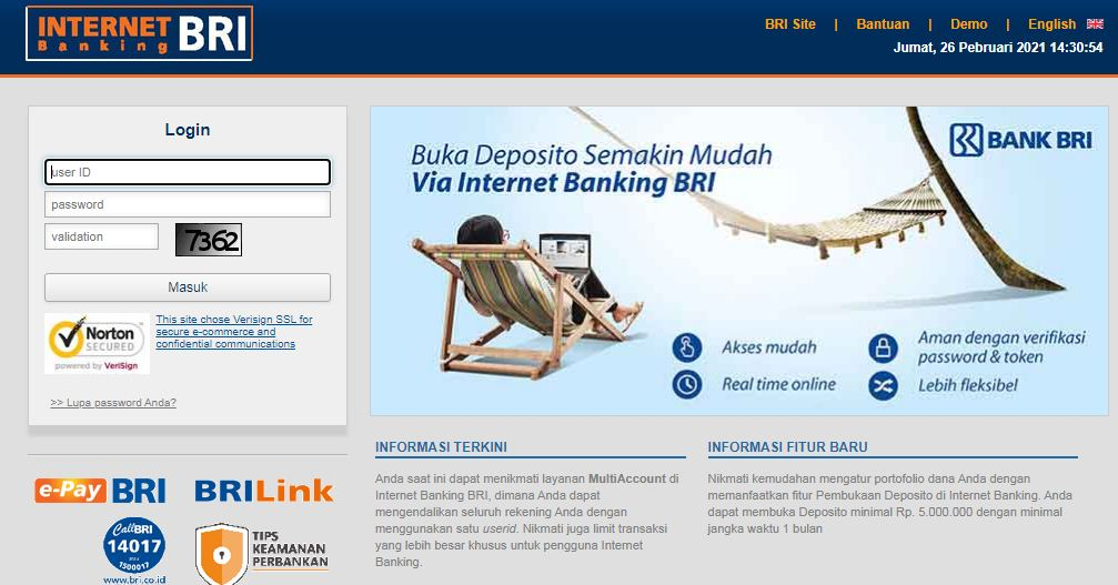 Ib.bri.co.id User id Terblokir