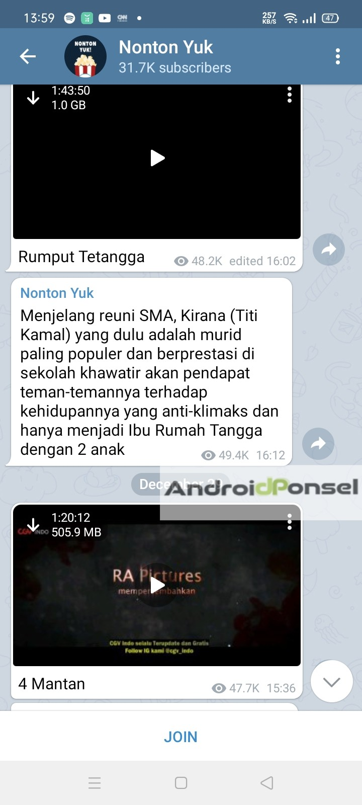 Channel Telegram Download Film Terbaik