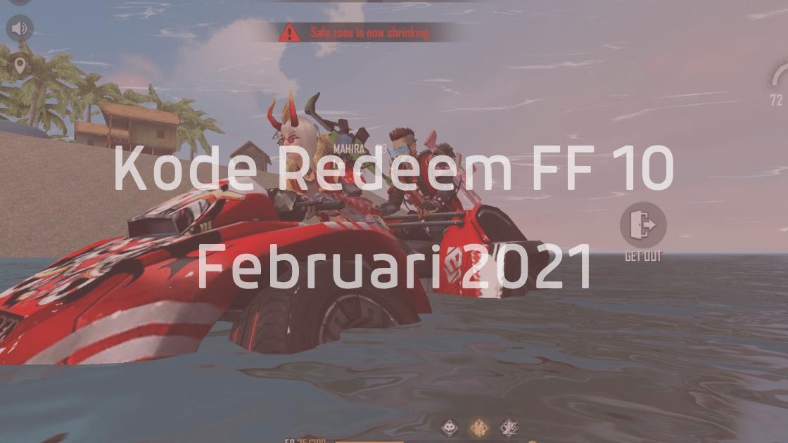 kode redeem FF 10 februari 2021