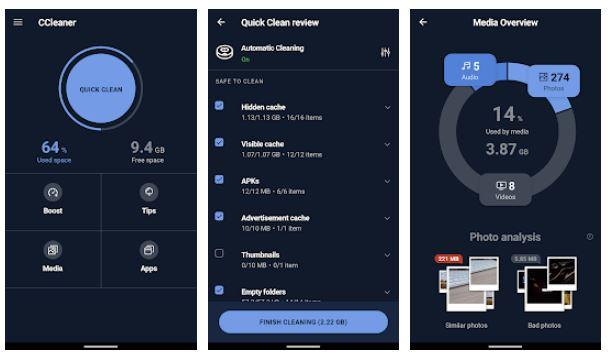 CCleaner aplikasi pembersih Android terbaik dan ringan