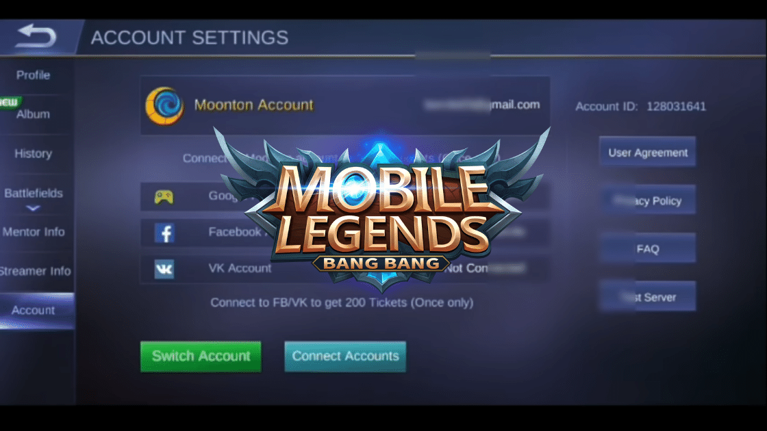 cara buat akun VK untuk Mobile Legends