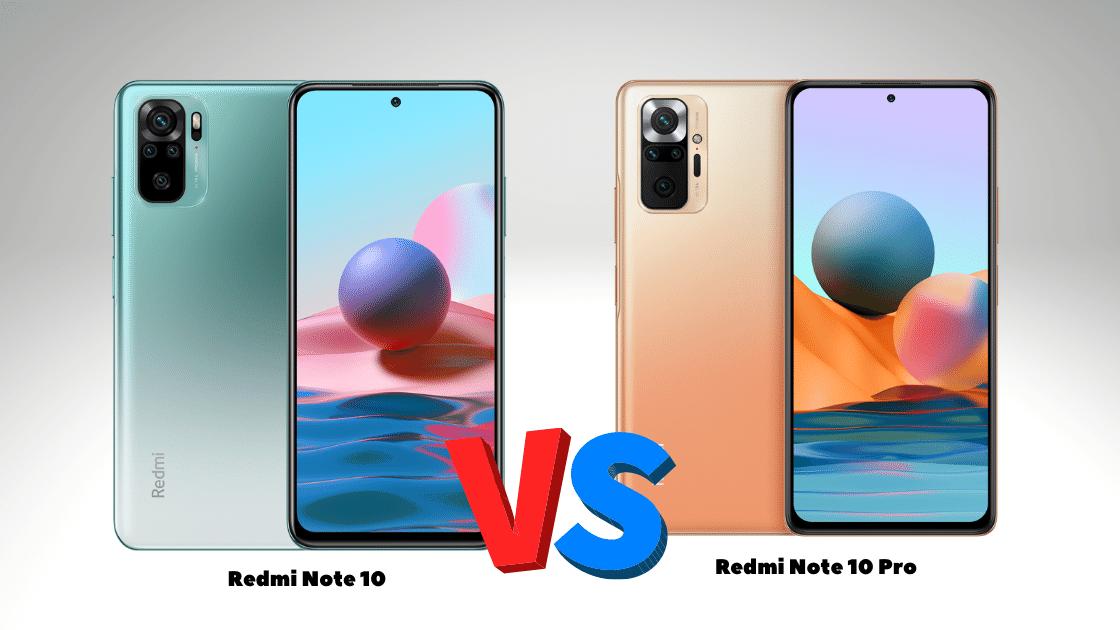 Redmi Note 10 vs Note 10 pro
