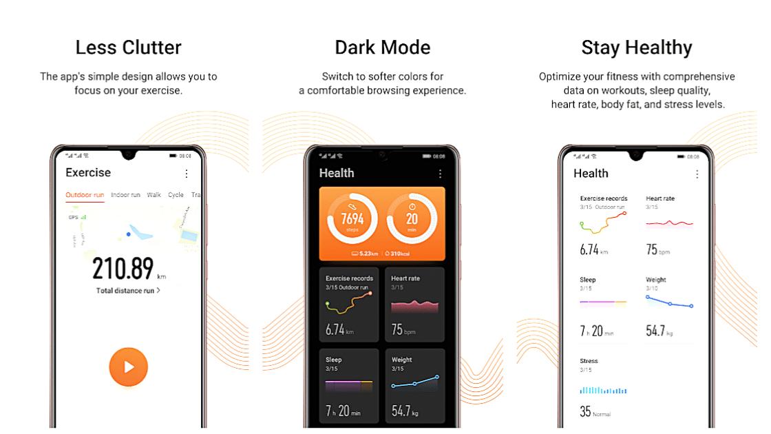 Huawei Health Aplikasi penghitung langkah