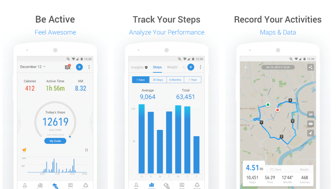 Pacer Pedometer aplikasi penghitung langkah