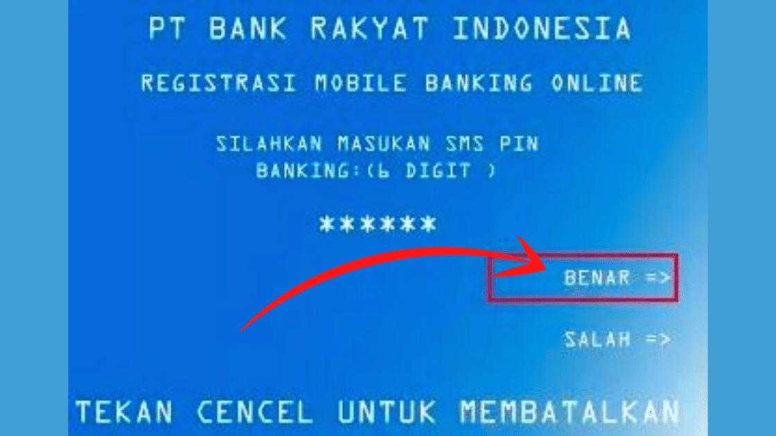 cara daftar sms banking bri
