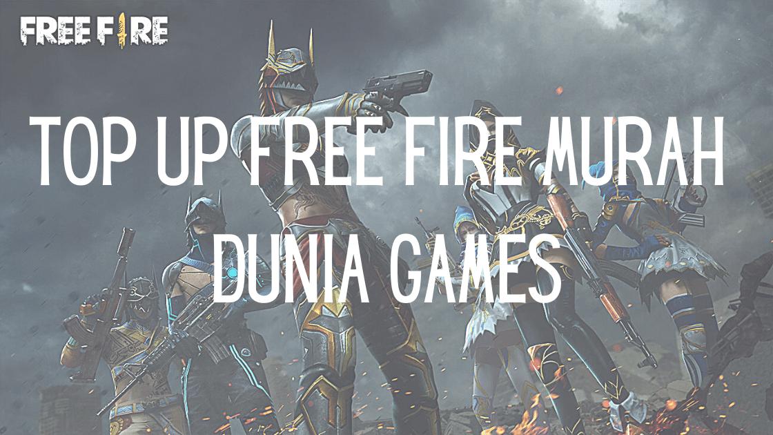 Top up Free Fire murah Dunia Games