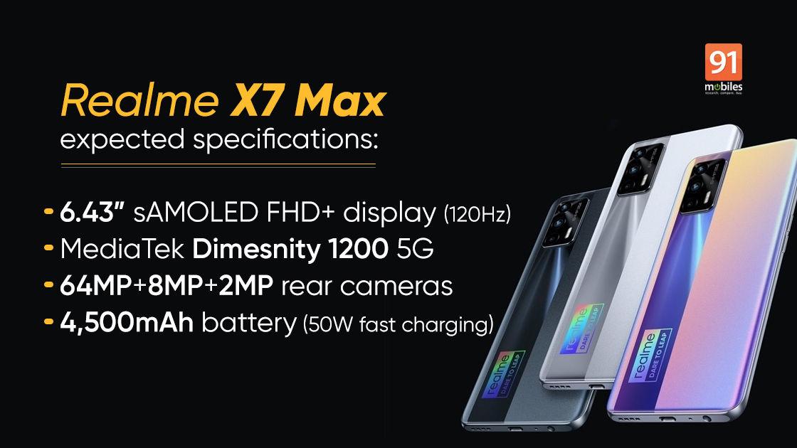 spek Realme X7 Max