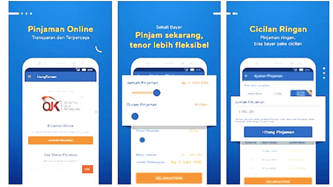 Uang Teman Aplikasi Pinjaman Online OJK