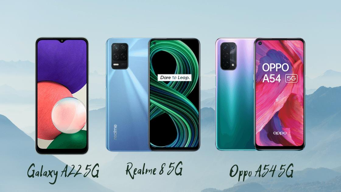 Galaxy A22 vs Realme 8 vs OPPO A54