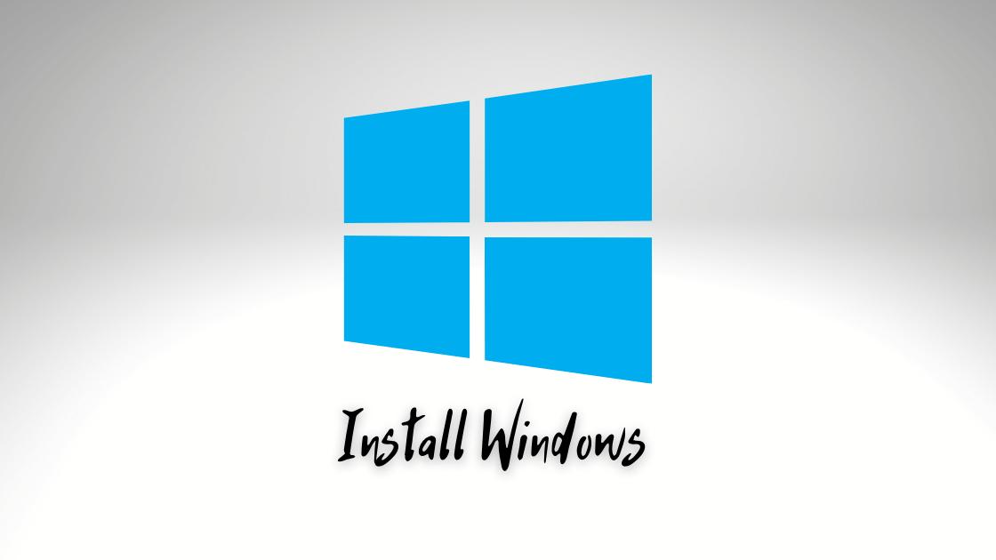 instal Windows 10 dengan flashdisk