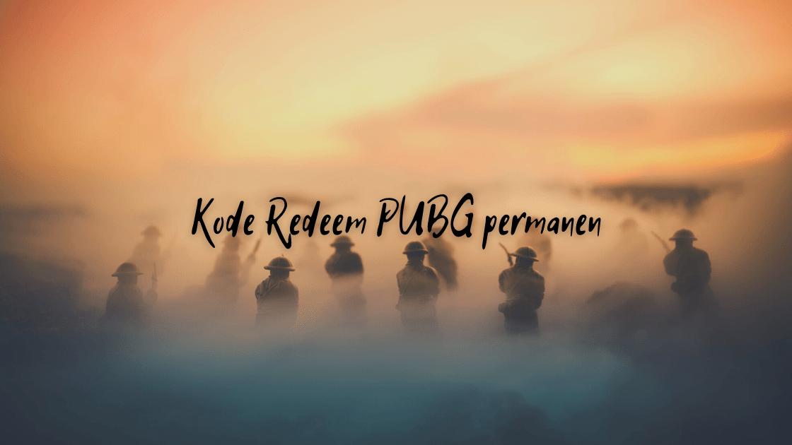 Kode Redeem PUBG permanen