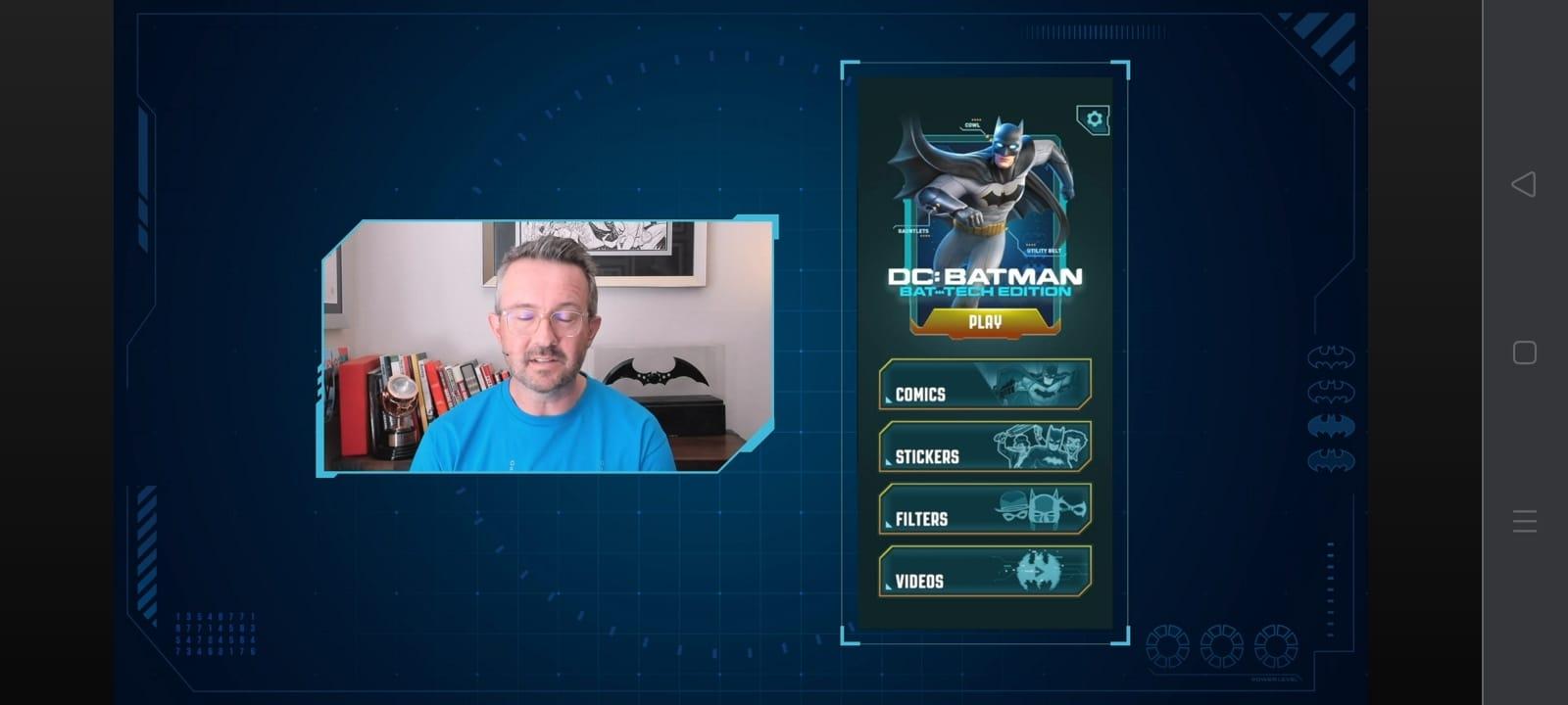 fitur Batman Bat-Tech Augmented Reality
