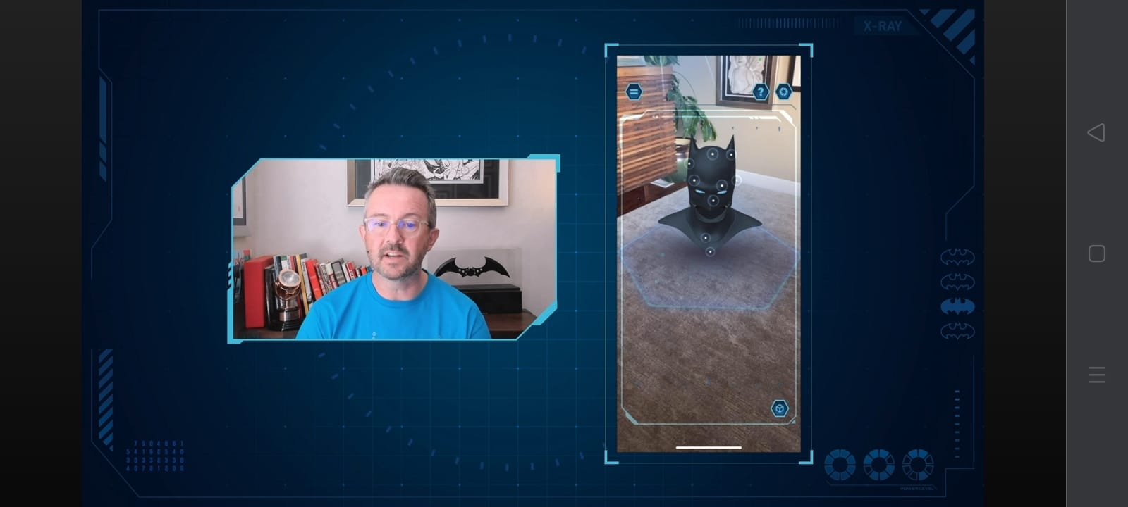 wajah batman ditampilkan secara augmented reality