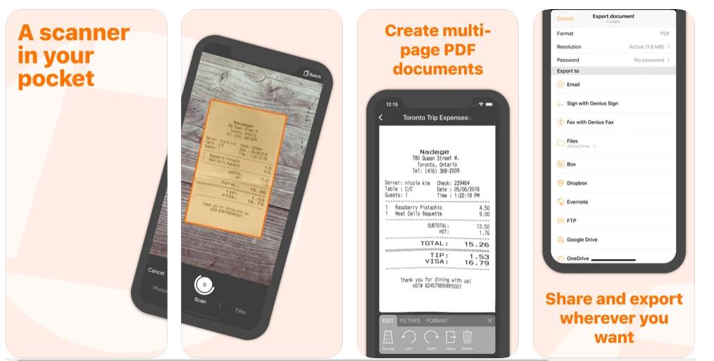 genius scan Website yang bermanfaat bagi mahasiswa  untuk mengcopy tulisan