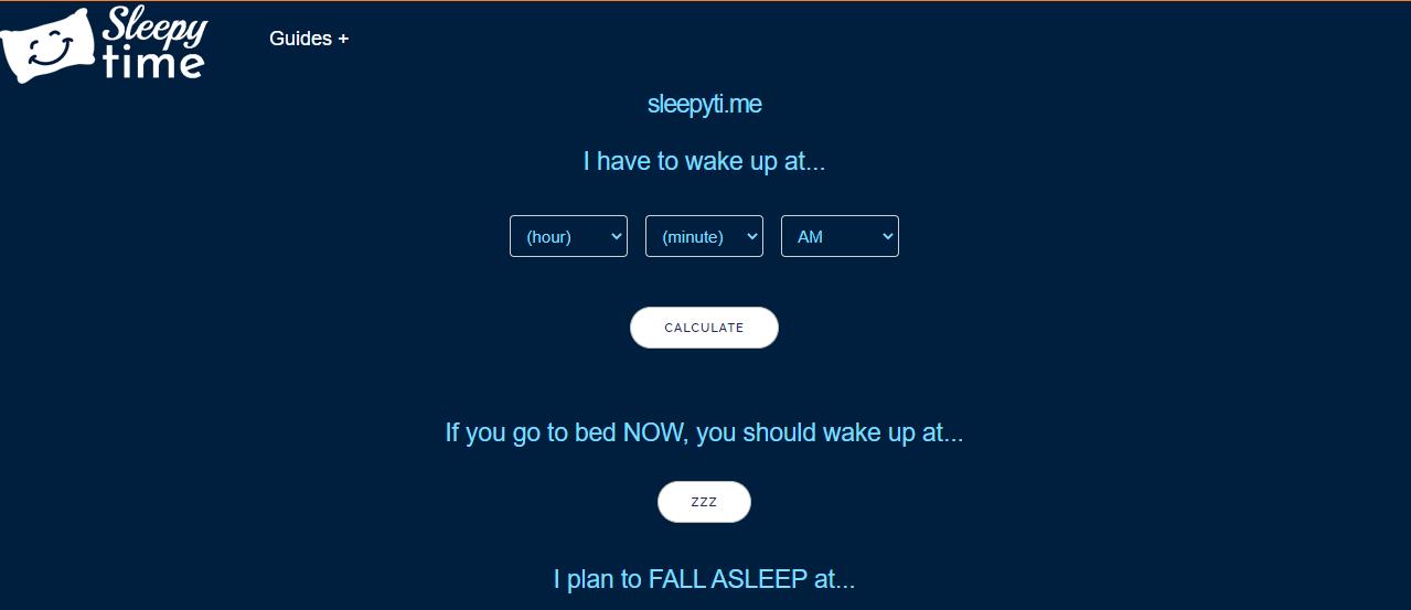 sleepyti.me untuk mengatur dan menghitung jam tidur sobat