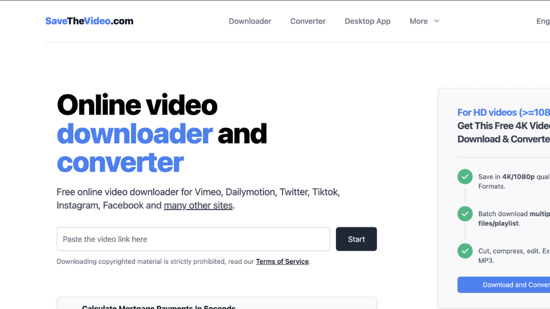 SaveTheVideo Dailymotion Downloader Video