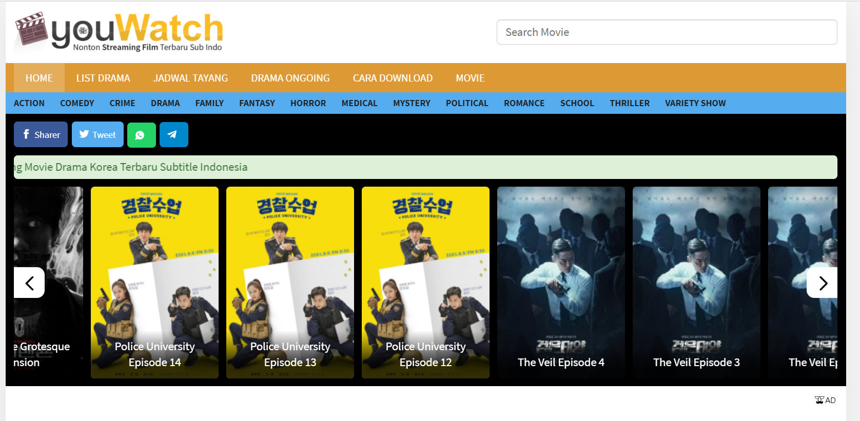 youWatch Situs Drama Korea Terbaru